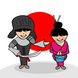 Welcome to Japan people Stock Images