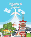 Welcome to Japan. Royalty Free Stock Photography