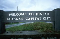 Welcome to Juneau Sign Royalty Free Stock Images