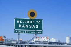 Welcome to Kansas Sign Royalty Free Stock Photos