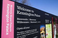 Welcome to Kensington Palace Royalty Free Stock Photos