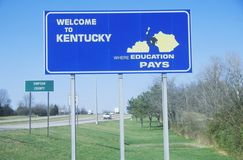 Welcome to Kentucky Sign Royalty Free Stock Image