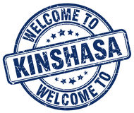 welcome to Kinshasa blue round stamp Royalty Free Stock Images