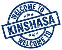 welcome to Kinshasa stamp royalty free illustration