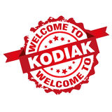 Welcome to Kodiak stamp Stock Photos
