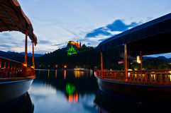 Welcome to lake Bled annual festival Bled nights Stock Photo