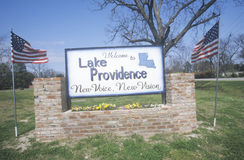 Welcome to Lake Providence, Louisiana where a New Voice can be heard Royalty Free Stock Photo