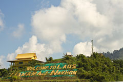 Welcome to Laos - Border Crossing to Laos royalty free stock photography