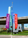 Welcome to Las Angeles Sign Royalty Free Stock Photography