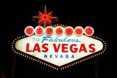 Welcome to Las Vegas. The famous landmark Welcome to Las Vegas neon sign Royalty Free Stock Photo