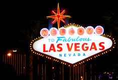 Welcome to Las Vegas. Welcome to Fabulous Las Vegas, Nevada (USA), at night Royalty Free Stock Photo