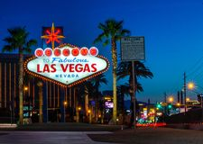 Welcome to Las Vegas at Dawn Stock Image