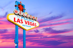 Welcome to Las Vegas. Neon Light Sign Stock Photo