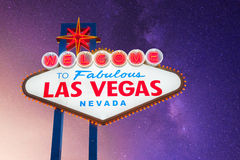 Welcome to Las Vegas. Neon Light Sign stock image