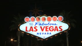 Welcome to Las Vegas Neon Sign - Clip 3 stock video footage