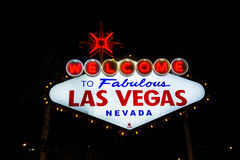 Welcome to Las Vegas neon sign Royalty Free Stock Photos