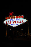 Welcome to Las Vegas neon sign Stock Photography