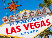 Welcome to Las Vegas Nevada sign on a sunny afternoon Stock Photos