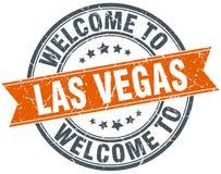 Welcome to Las Vegas orange round stamp Stock Image
