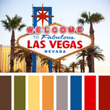Welcome to Las Vegas palette Royalty Free Stock Photo