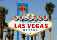 Welcome to Las Vegas sign. The historic Welcome to Las Vegas sign is shown Royalty Free Stock Photos