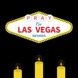 Welcome to Las Vegas sign Candle set.  Stock Images