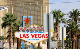 Welcome To Las Vegas Sign. Colorful picture of the Welcome to Fabulous Las Vegas sign Stock Images