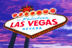 Welcome to Las Vegas Sign Royalty Free Stock Photos