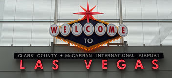 Welcome to Las Vegas Stock Image