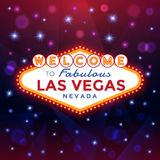 Welcome to Las Vegas Sign Royalty Free Stock Images