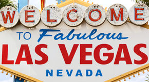 Welcome to Las Vegas sign. World famous welcome to fabulous Las Vegas sign Royalty Free Stock Images