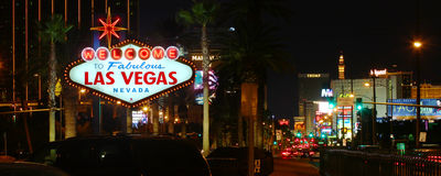 Welcome to Las Vegas Strip Royalty Free Stock Image