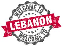 Welcome to Lebanon seal. Welcome to Lebanon round vintage seal royalty free illustration