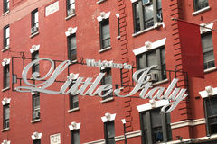 Welcome to Little Italy. A Welcome to Little Italy sign, in downtown Manhattan Royalty Free Stock Photos