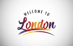 Welcome to London vector illustration