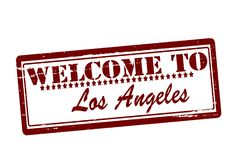 Welcome to Los Angeles. Rubber stamps with text welcome to Los Angeles inside,  illustration Royalty Free Stock Images