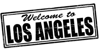Welcome to Los Angeles. Stamp with text welcome to Los Angeles inside,  illustration Royalty Free Stock Images