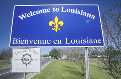 Welcome to Louisiana Sign royalty free stock image
