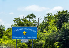 Welcome to louisiana sign Stock Photography