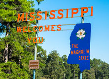 Welcome to the Magnolia State, Mississippi Stock Photo