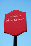 Welcome to Main Street sign Royalty Free Stock Photography