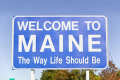 Welcome to Maine, The Way Life Should Be Stock Photos