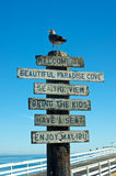 Welcome to Malibu Sign Royalty Free Stock Images