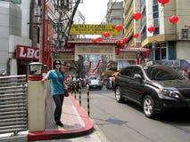Welcome to Manila Chinatown, Binondo, Manila. Filipino Chinese Friendship Arch in Ongpin St. Manila Chinatown, Binondo, Manila Royalty Free Stock Photo