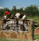 Welcome to the Mara Triangle sign Stock Photography