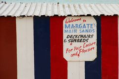 Welcome to Margate Sands Royalty Free Stock Images