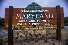 Welcome to Maryland road sign Stock Photography