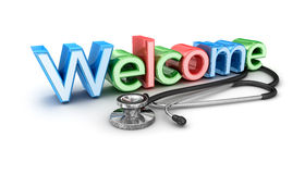 Welcome to medicine, 3d Concept Royalty Free Stock Image