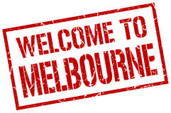 Welcome to Melbourne stamp Royalty Free Stock Photography