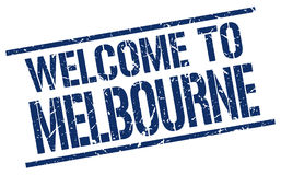 Welcome to Melbourne stamp Stock Images